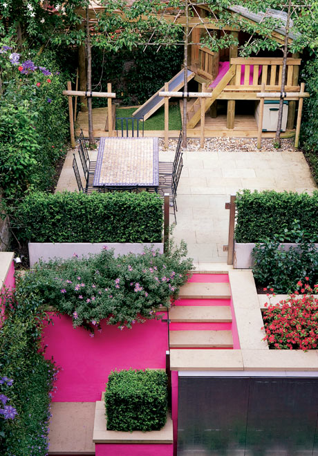 Gardens in the pink life and style the guardian for Children friendly garden designs