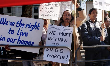 Diego Garcia islanders protest