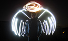 Light painting angel