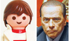 Playmobil toy and Silvio Berlusconi