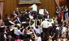 A brawl in Taiwan's legislature
