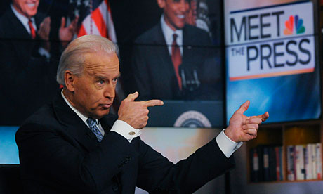 Joe Biden appears on NBC's Meet the Press, for a taped interview.