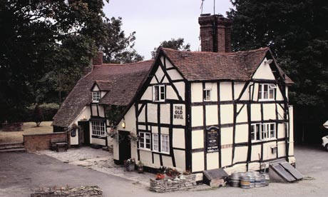 The Old Bull pub in Inkberrow, Worcestershire