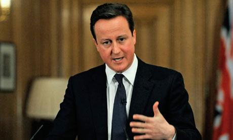 David Cameron at a No 10 news conference, 21 December 2010
