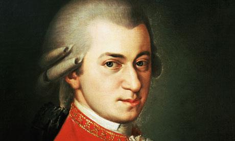 Composer Wolfgang Amadeus Mozart.