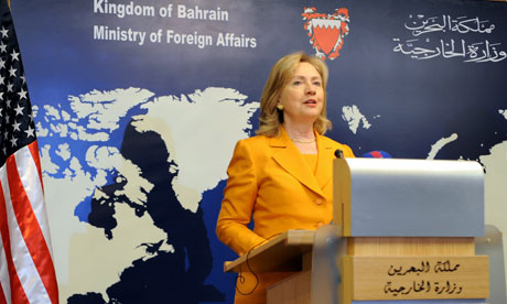 US Secretary of State, Hillary Clinton in Bahrain