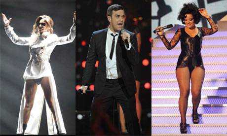 Cheryl Cole, Robbie Williams, Lily Allen at the Brits