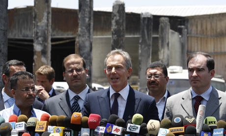 Tony Blair visiting Gaza, June 2009