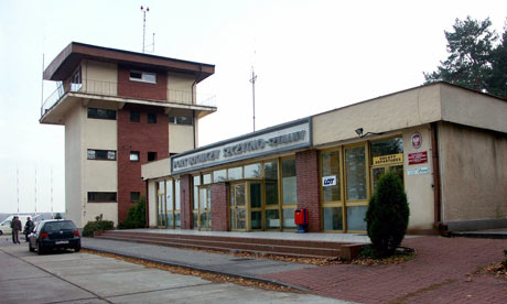 The control tower of the airport in Szymany, Poland