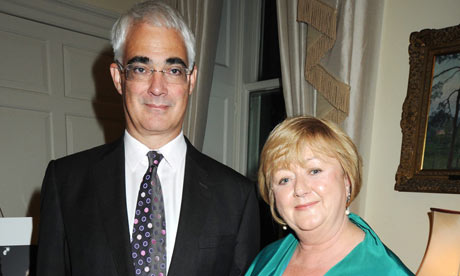 Alistair Darling with his wife Maggie