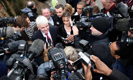 Max Clifford meets the press
