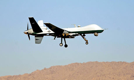 A Reaper drone in southern Afghanistan