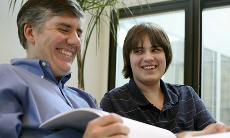 Rick Riordan, author of the Percy Jackson series, in his San Antonio, Texas home.