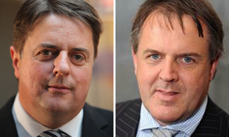 A composite picture of Nick Griffin and Lynden Stowe