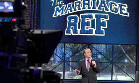 Still from the Marriage Ref TV show
