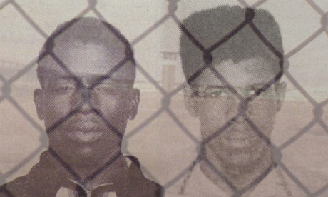Herman Wallace and Albert Woodfox, convicted of murder in Louisiana