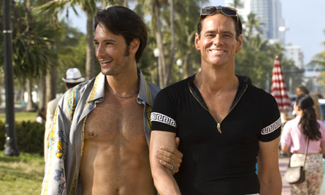 Hello campers: Jim Carrey (right) with Rodrigo Santoro in I Love You Phillip ...