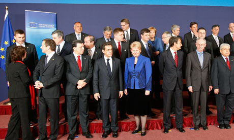 EU heads of state at an EU summit in Brussels