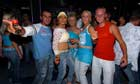 Young partygoers in Lourdes