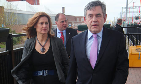 Gordon Brown Launches Labour manifesto in Rugby