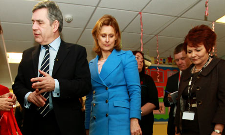 Gordon Brown and Sarah Brown visit Meadowbank primary school