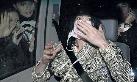 Michael Jackson in mask