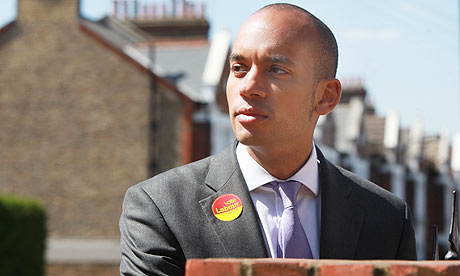 Chuka Umunna, the Labour candidate for Streatham, in south London.