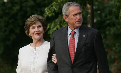 President George Bush and first lady Laura Bush at Heiligendamm
