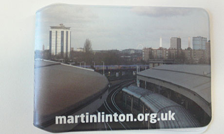 Martin Linton's campaign travelcard wallet - cool indeed.