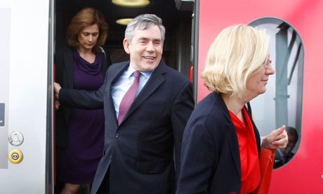 Sue Nye accompanies Gordon Brown and his wife Sarah on the campaign trail.