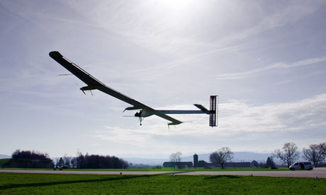 Solar energy plane completes maiden intercontinental trip