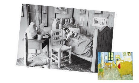 Vincent van Gogh - The real-life Van Gogh painting Stripped boards,...