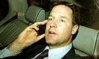 Leader of the Liberal Democrat Party Nick Clegg