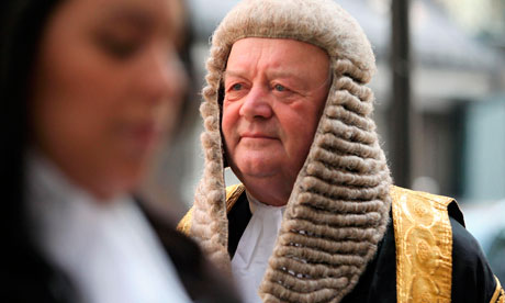 Kenneth Clarke walks to the Royal Courts of Justice in London to be sworn in as Lord Chancellor.