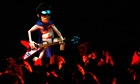 Hologram of Gorillaz bass player Murdoc at the MTV