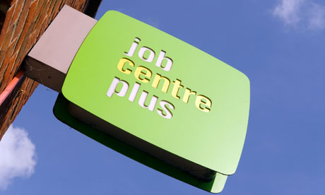 A JobCentre Plus sign