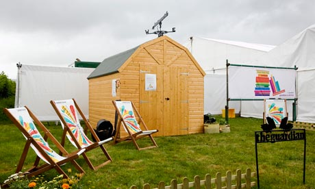 The Guardian shed at Hay
