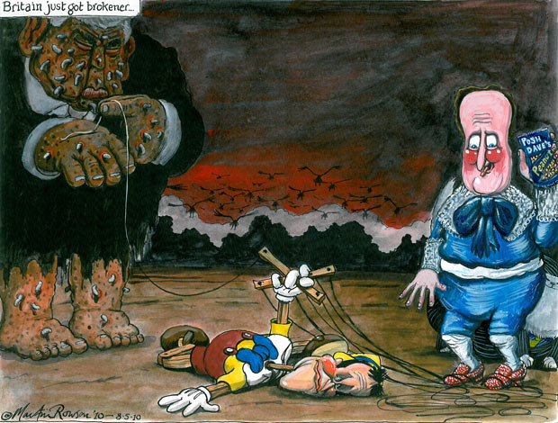Martin Rowson on Britain's hung parliament