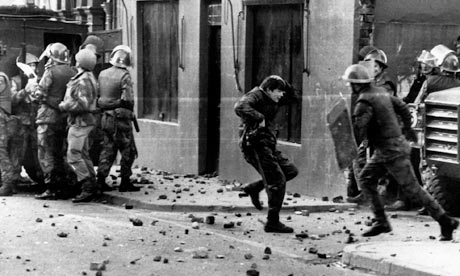 Bloody Sunday massacre in Northern Ireland