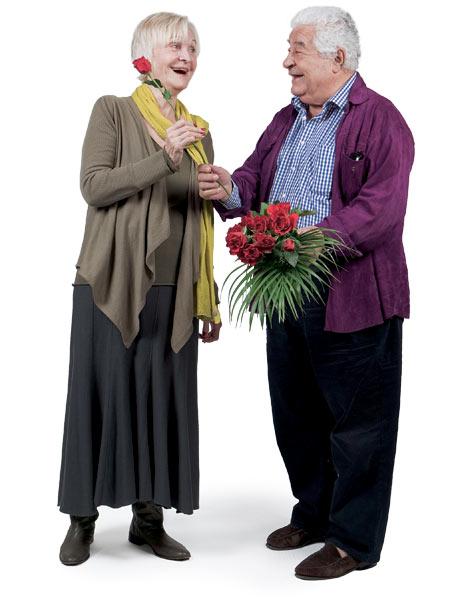 Antonio Carluccio and Sheila Hancock