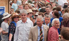 Prince Charles goes walkabout at Glastonbury