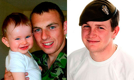 Corporal Terry Webster with his daughter Jess and Lance Corporal Alan Cochran