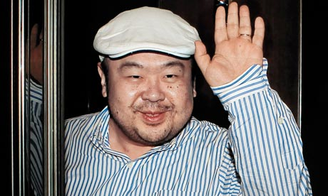 Kim Jong-nam, the eldest son of North Korean leader Kim Jong-il, waves after an interview in Macau