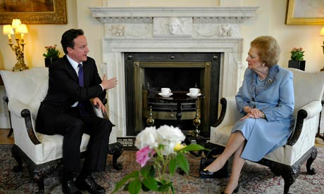 David Cameron Welcomes Lady Thatcher