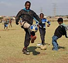 members of the team Jabulani Arsenal play in Soweto