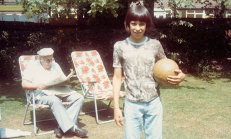 Simon and his father in 1975