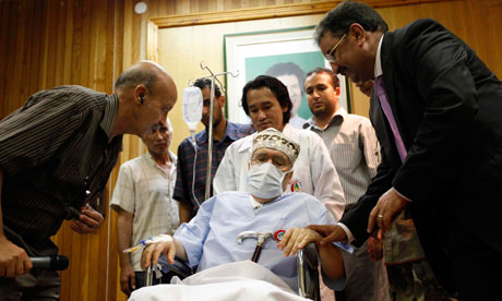 Abdelbaset al-Megrahi in hospital in Tripoli after his release nearly a year ago