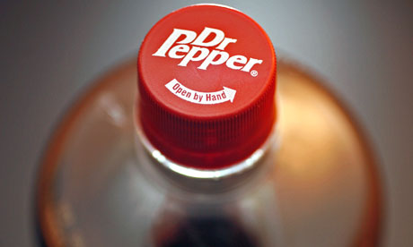 Bottle of the soft drink Dr Pepper