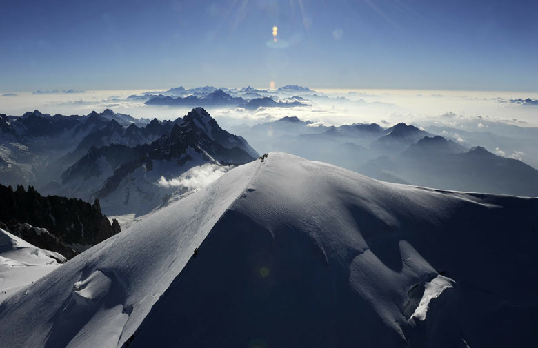 An aerial picture of Mont Blanc