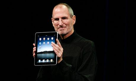 Steve Jobs announces the new iPad on January 27, 2010 in San Francisco.